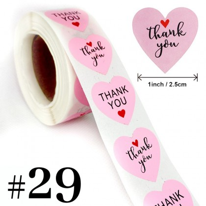 Thank You Sticker #21 to #40