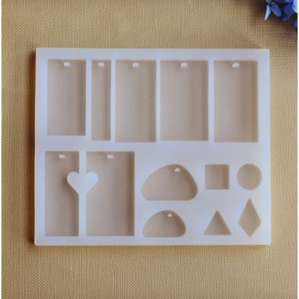 Pendant Silicone Mold, Multiple Shapes