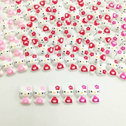 HELLO KITTY Resin 10 pcs/pack