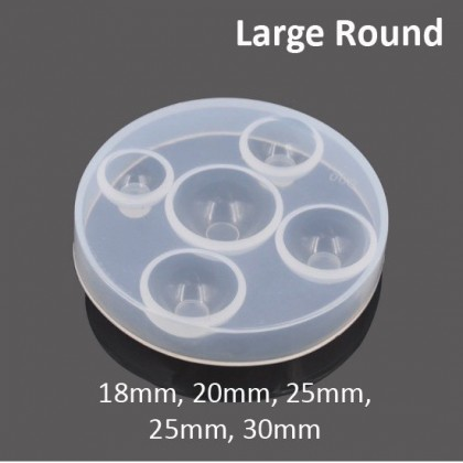 High Domed Flat back Round Silicone Mold