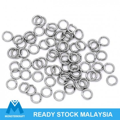 Stainless Steel Open Jump Rings, Round