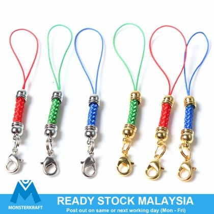 10 pcs Cell Phone Lanyard, Braided Cord Hanger With Lobster Clasp