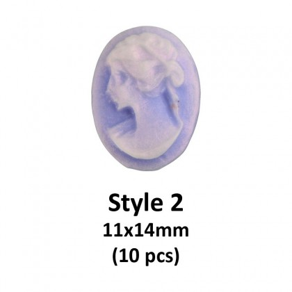 Acrylic Cabochons, Cameo with Woman