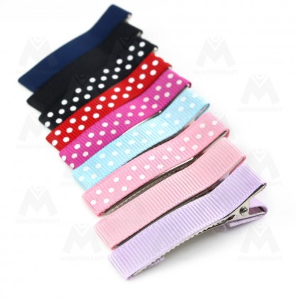10 pcs Hair Clips, 5cm Long, Colorful Prong Barrettes (530-031P)