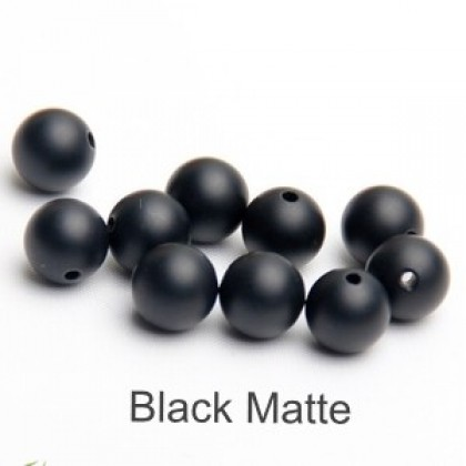 50 grams Glass Beads, Round, 6mm