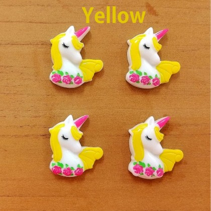 10pcs Unicorn Resin, Resin Flat, Kawaii Unicorn Cabochon