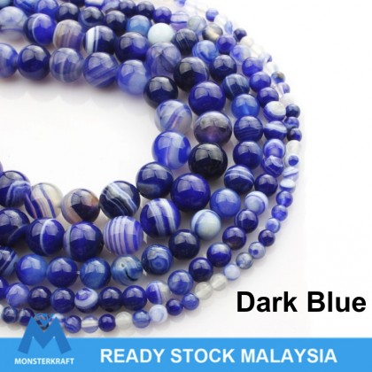 Natural Agate Gemstone Beads (Enhanced/Dyed), Round Smooth