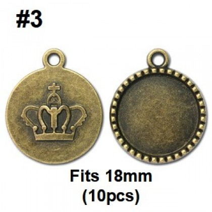 Picture Frames, Round, Antique Brass-Plated (617-034P)