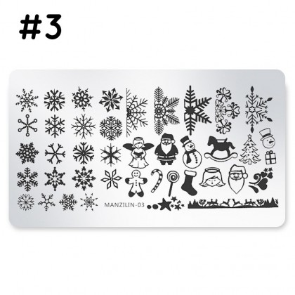 [Disabled] Christmas Nail Art Stamp Stamping Plates Manicure Pedicure, Template Tool