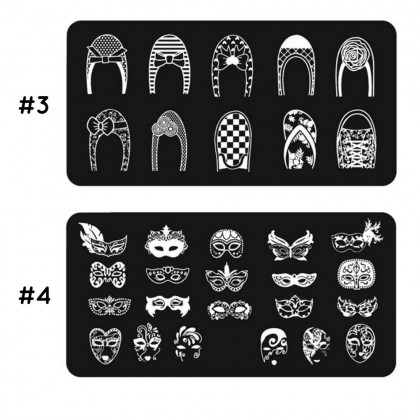 Stencil Nail Art Image Stamp Stamping Plate Manicure Pedicure Template Tool