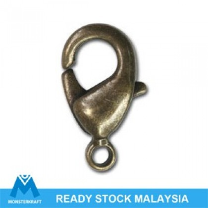 20 pcs Lobster Clasps Antique Brass-Plated