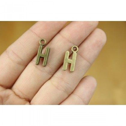 20 pcs Alphabet Charms (A~M) , 16mm, Locket Alphabets