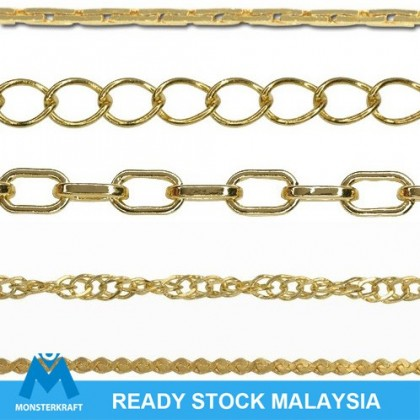 Chains, Gold-Plated Brass Chain, Gold Chain
