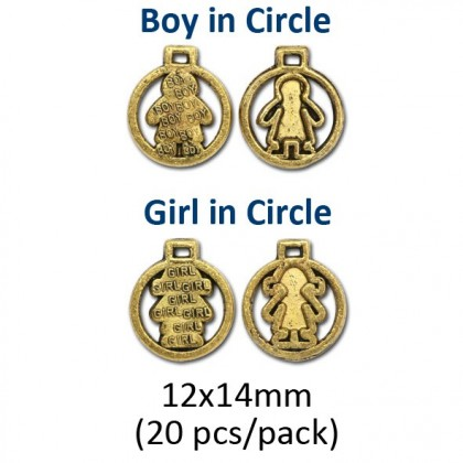Gold Charm, Gold/Antique Gold-Plated
