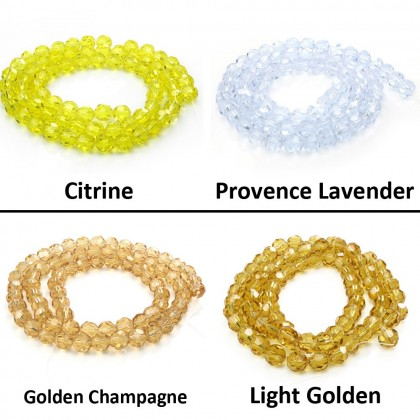 Mix Chinese Crystal Glass Beads Round Faceted