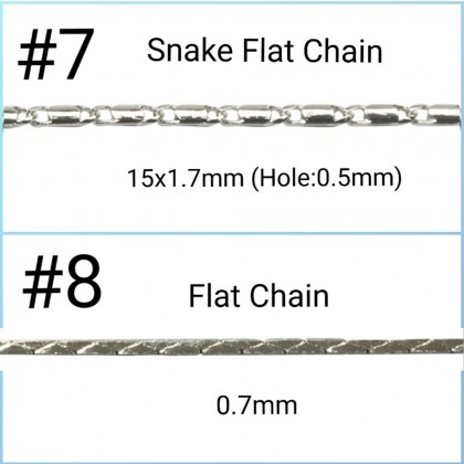 Chain ,Silver-Plated Brass Chains, 1 meter/pack.