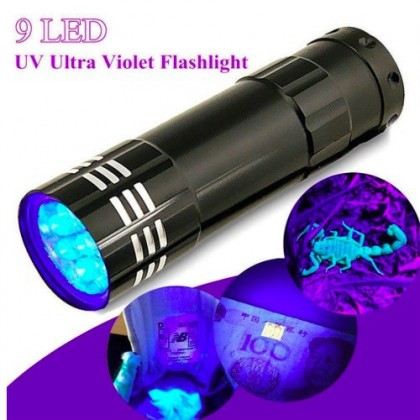 UV LED Torch Light, with 9-LED