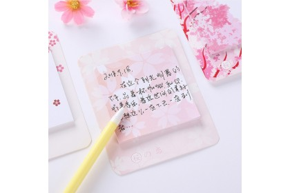 Sakura Japanese Floral Memo Pad Sticky Notes Bookmark