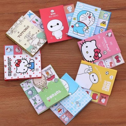 Memo Pad Cartoon N Times Stickers, Sticky Notes Bookmark
