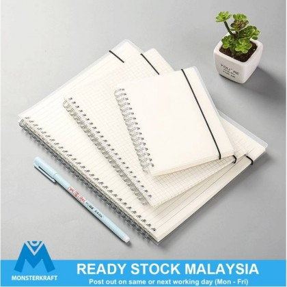 Notebook Minimalist Planner, Frosted Transparent Cover, Korea Stationery, Write It Down Buku Nota