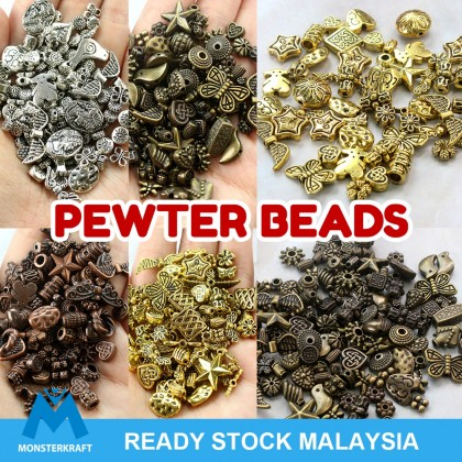 Mix Pewter Beads, Antique Plated, Metal Beads,  50grams/pack