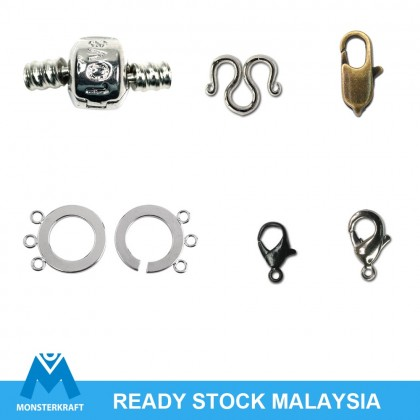 Clasp, Silver-Plated Brass round lock