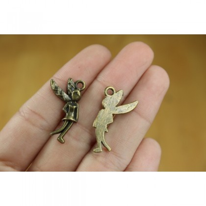 Charms Angel Fairies, Antique Brass-Plated 50g