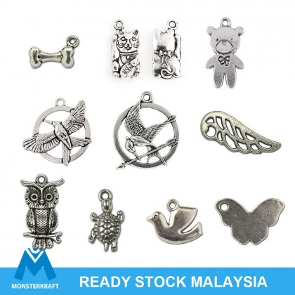 Silver Charms, Animal Bird Bear Cat Pet Eagle