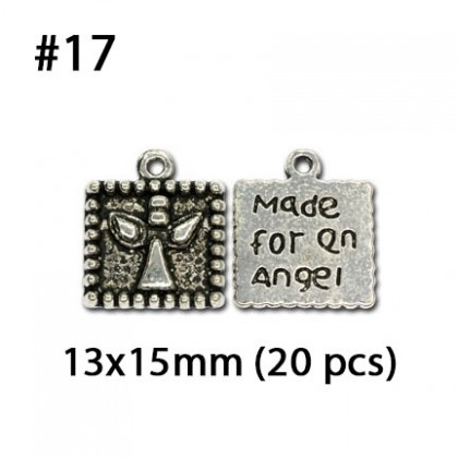 Silver Charms, Words Quotes Theme Plate Drop