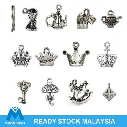 Silver Charms, Princess Crown Alice Wonderland Fairy