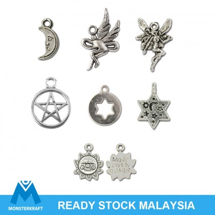 Silver Charms, Stars Moon Fairy Sun Angel