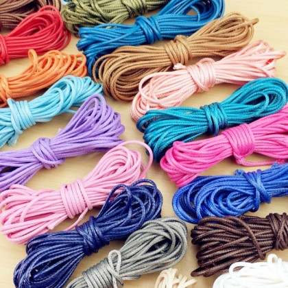 5 Meters Korean Waxed Cord 2mm Thick Polyester Cord