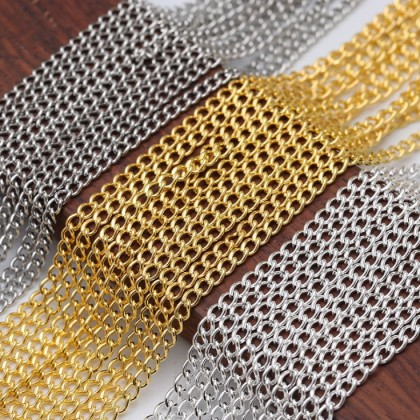 Extender Chains, Silver Chain/Gold Chain, 2 meters
